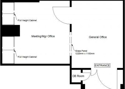 Suite 02-06A – approx. 250sqft